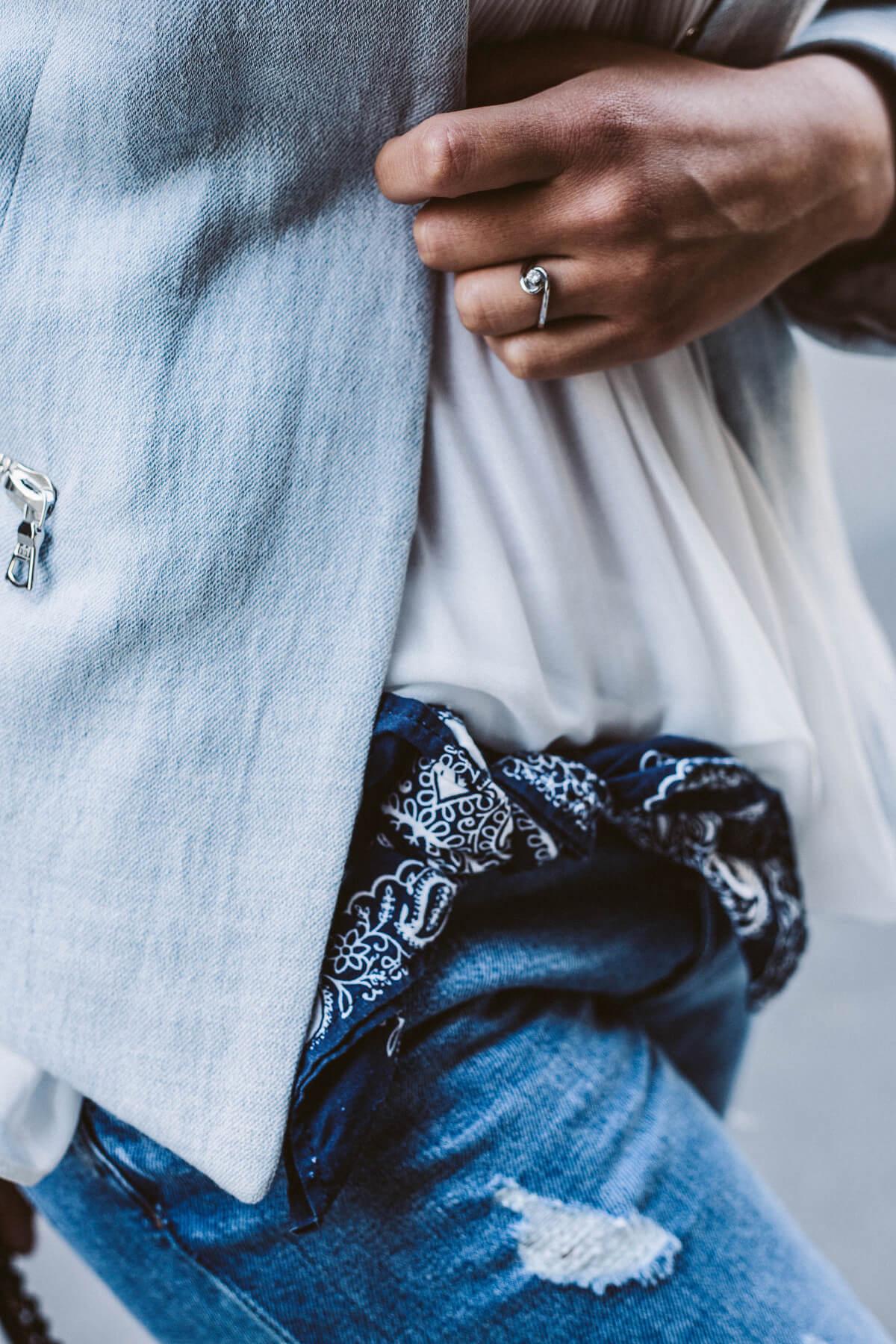 Blue outfit details