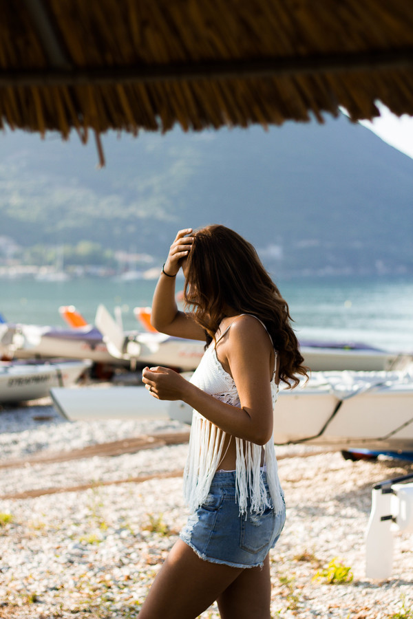 Beach outfit in Vassiliki, Greece