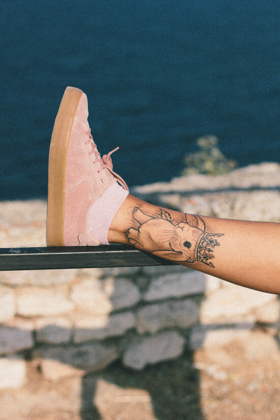 Pull and bear pink sneakers